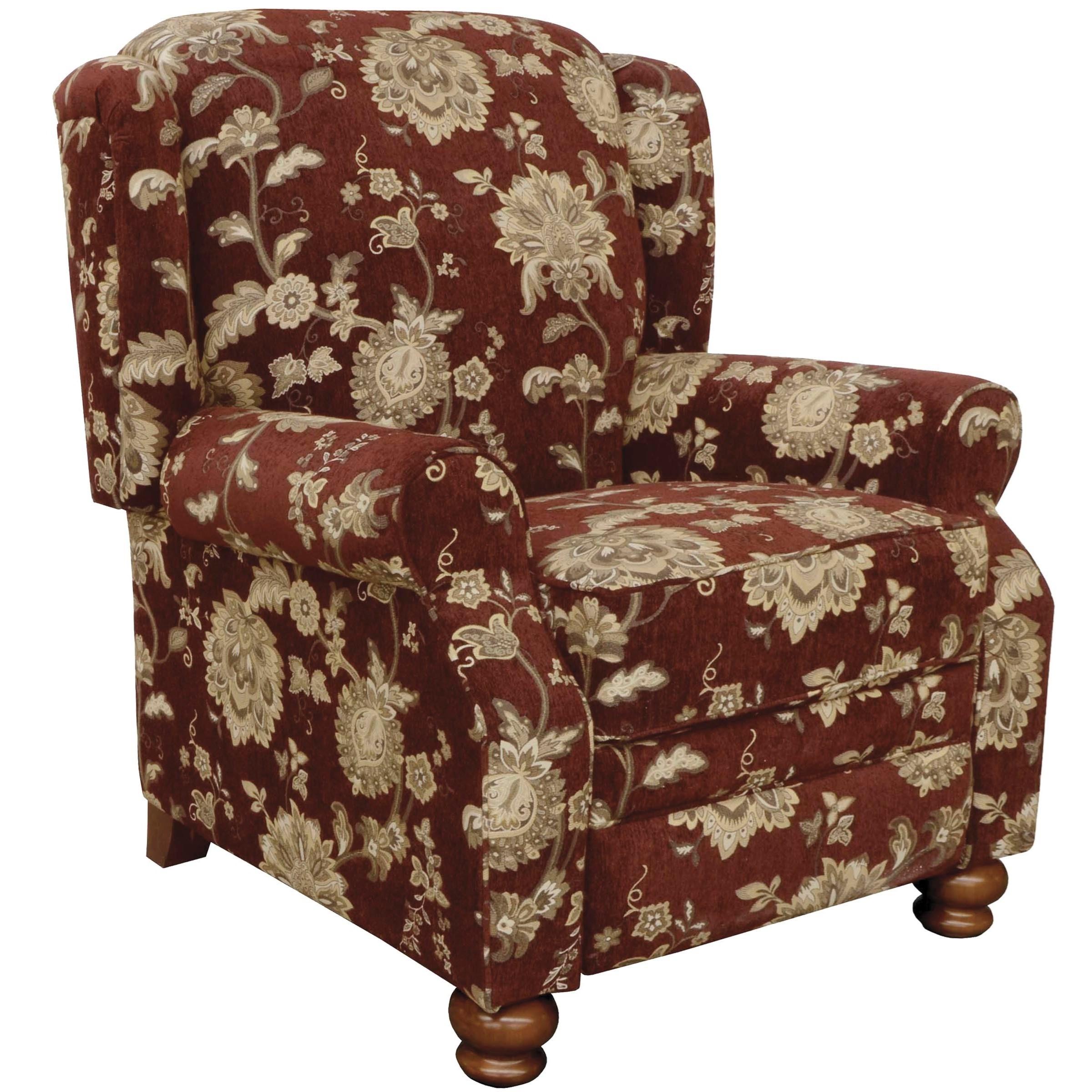 Jackson Furniture Belmont High Leg Recliner - Item Number: 4347-11-Belmont-Merlot