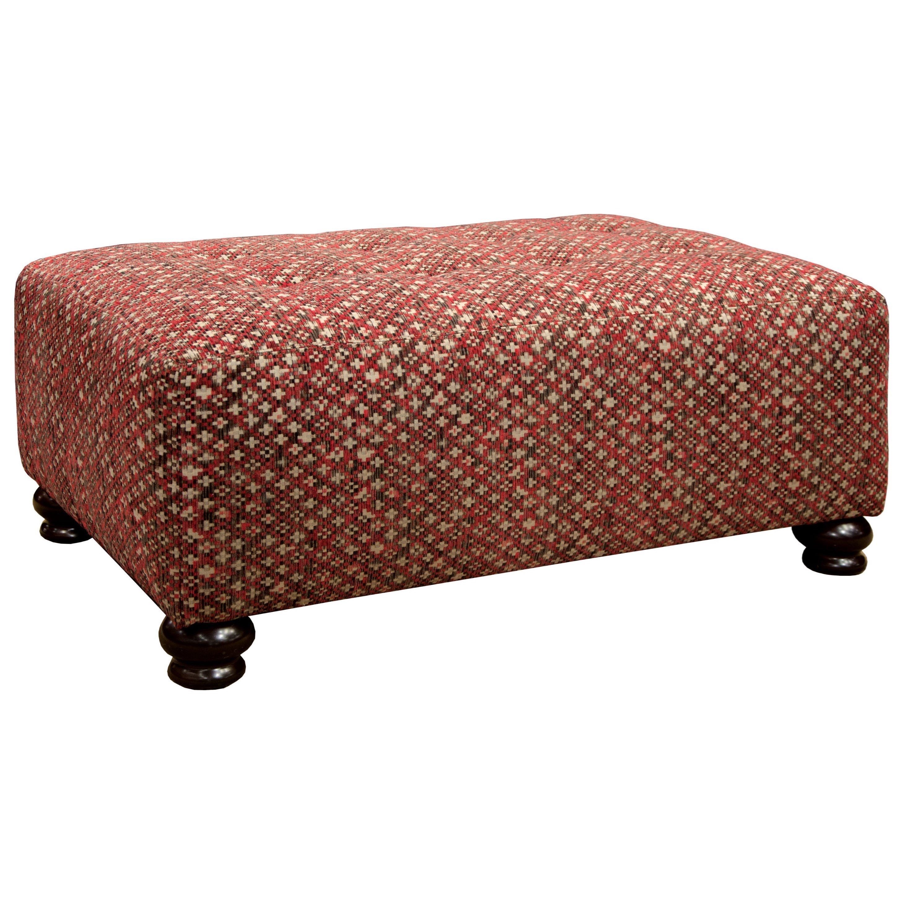 Jackson Furniture Southport Cocktail Ottoman - Item Number: 436710-Red Geometric