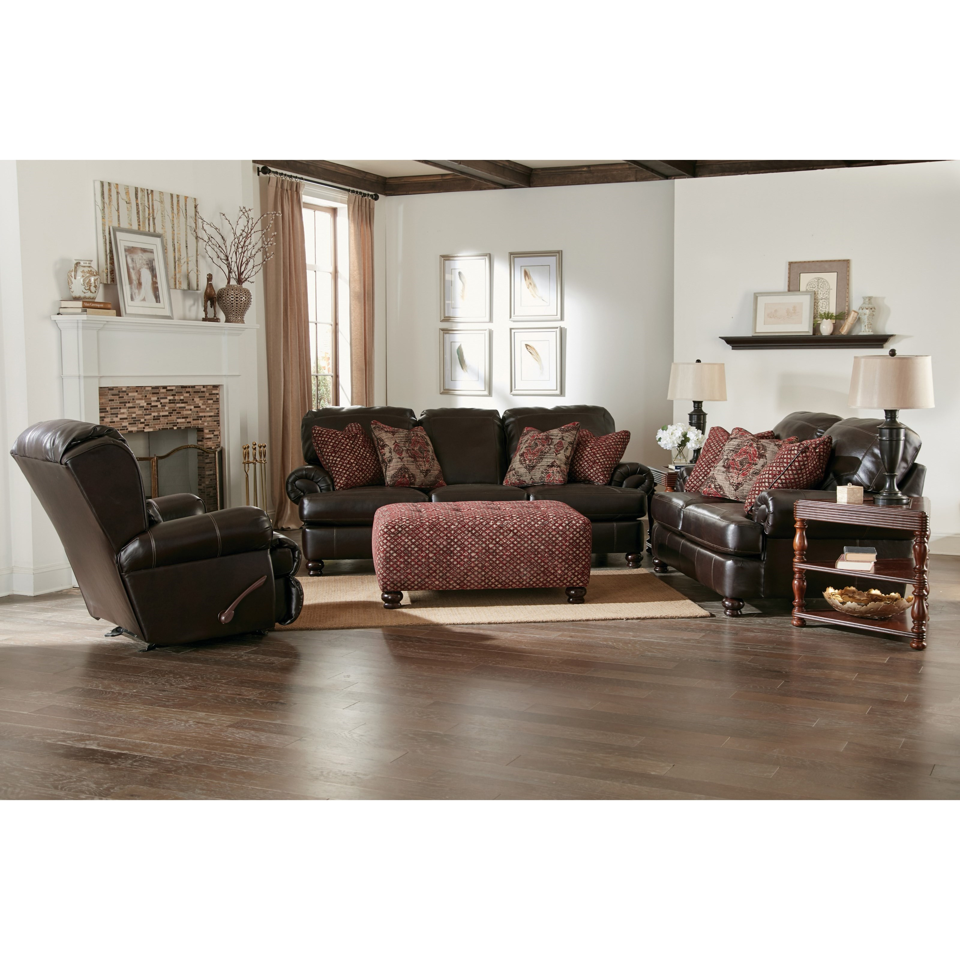 Jackson Furniture Southport Stationary Living Room Group - Item Number: Living Room Group 1-Espresso