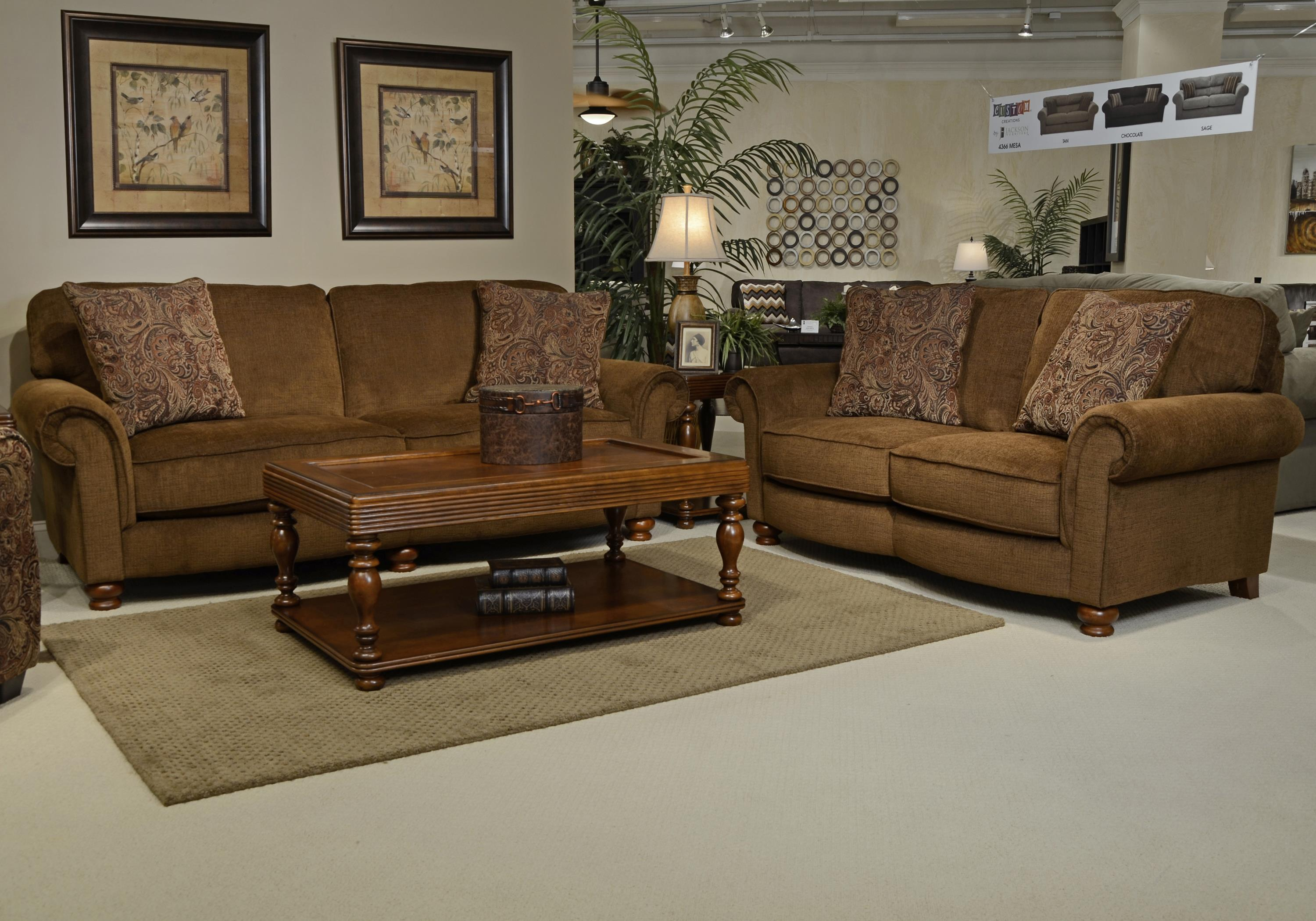 Jackson Furniture Downing Stationary Living Room Group - Item Number: 4384 Living Room Group 2