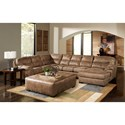 Jackson Furniture Gunsmoke Sectional Sofa - Item Number: 445362+30+76-Silt