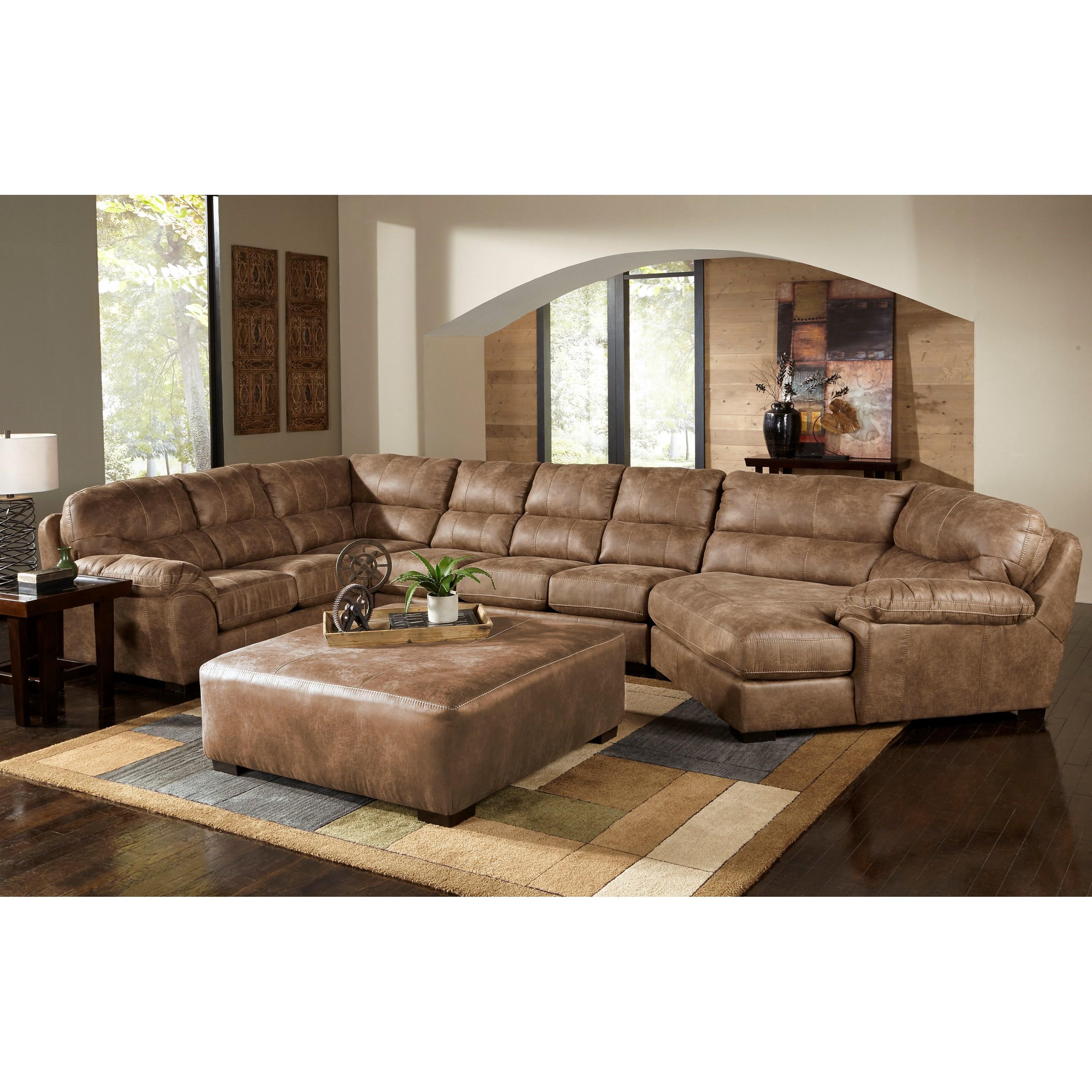 Jackson Furniture Grant Sectional Sofa - Item Number: 445362+30+96-Silt