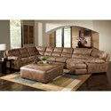 Jackson Furniture Jordan Sectional Sofa - Item Number: 445362+30+96-Silt