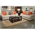 Jackson Furniture Ava Cashew Sofa & Loveseat - Item Number: GRP-4498-SL