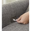 Jackson Furniture Ackland Chair and a Half with USB Port - USB Port Detail Shot