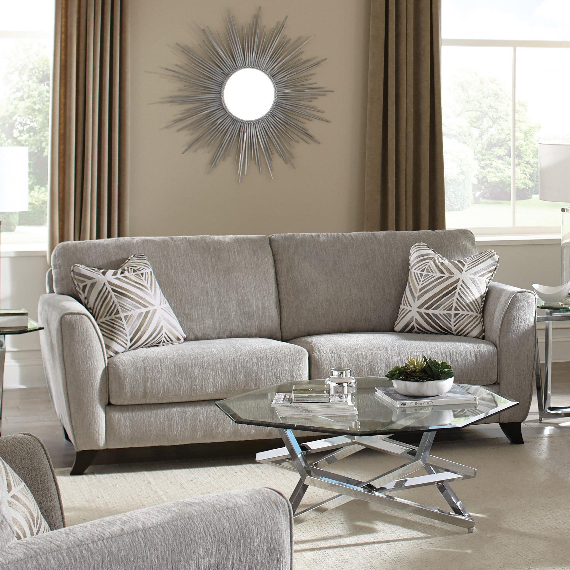 Jackson Furniture Alyssa Pebble Sofa - Item Number: 4215-03-2072-18-2073-28