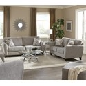 Jackson Furniture Alyssa Living Room Group - Item Number: 4215 Living Room Group 1 Pebble