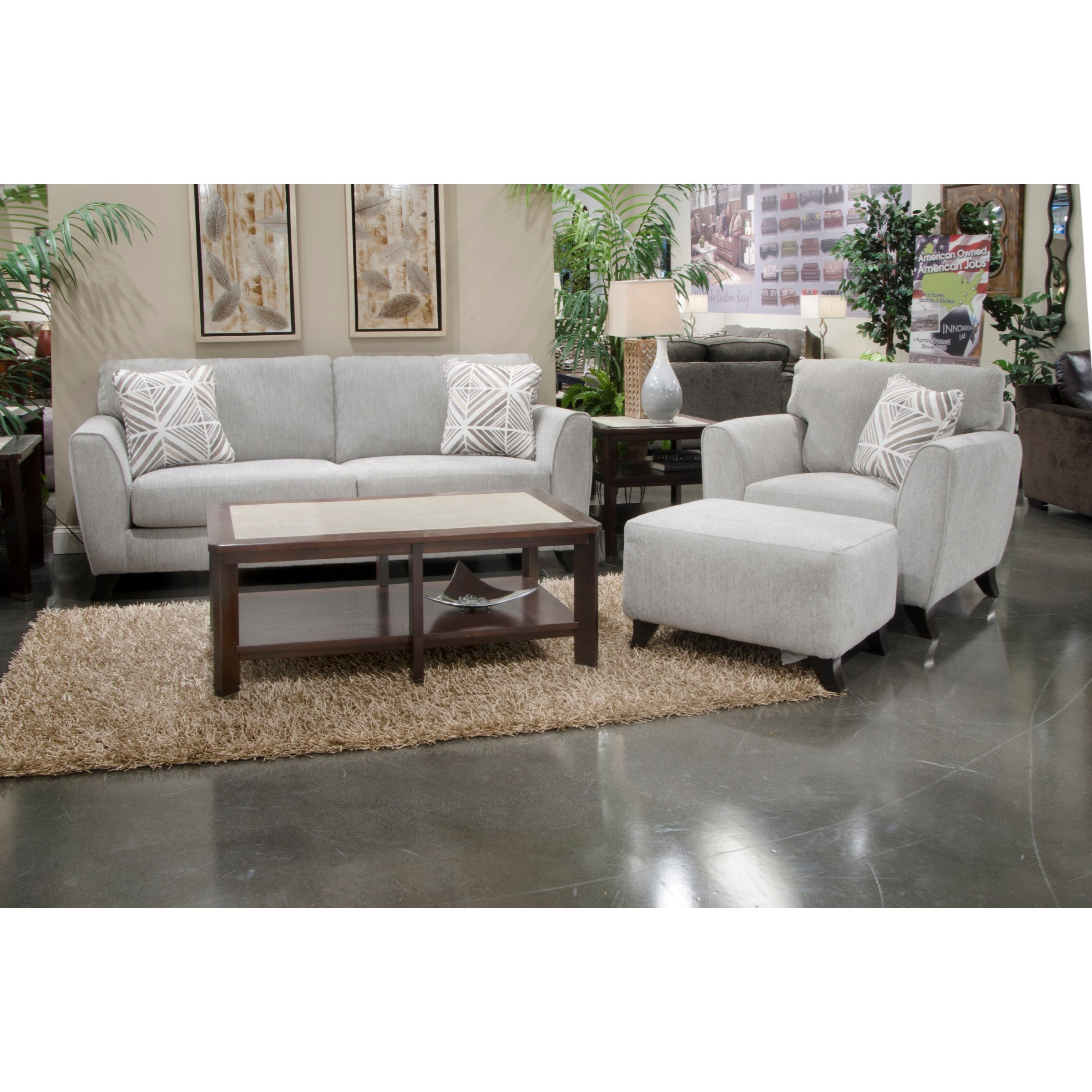 Pebbles Living Room Group by Jackson Furniture at EFO Furniture Outlet