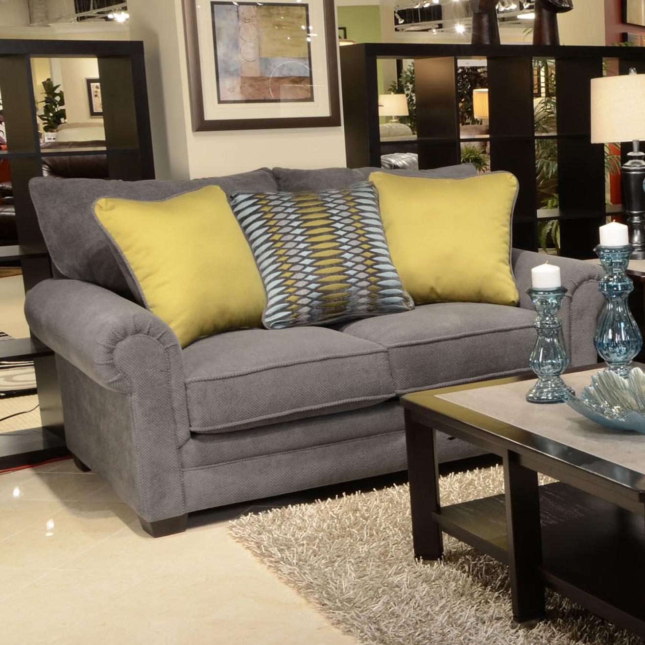 Jackson Furniture Anniston Loveseat - Item Number: 4342-02-Anniston_Carbon
