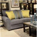 Jackson Furniture Anniston Loveseat - Item Number: 4342-02-Anniston_Carbon