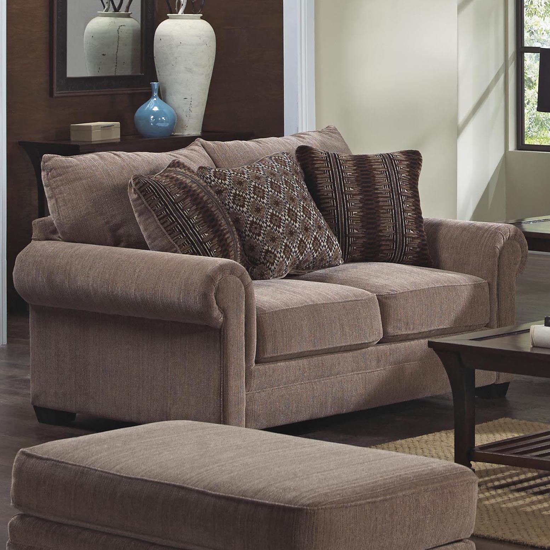 Jackson Furniture Anniston Loveseat - Item Number: 4342-02-Anniston_Saddle