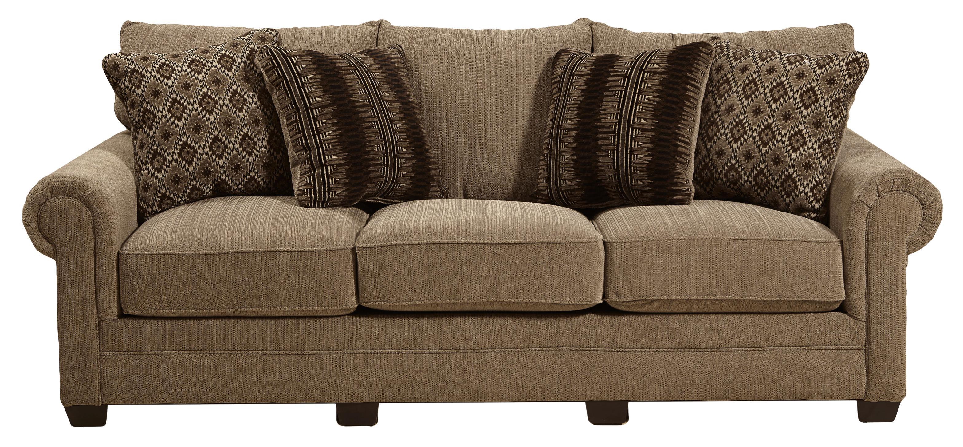 Jackson Furniture Anniston Stationary Sofa - Item Number: 4342-03-Anniston_Fawn