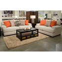 Jackson Furniture Ava Loveseat with USB Port - USB Port May Not Be Pictured