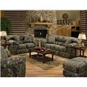 Jackson Furniture Big Game Camouflage Two Seat Sleeper Sofa - Sofa Shown May Not Represent Exact Features Indicated