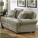 Jackson Furniture Braddock Loveseat with Individually Driven Nail Heads - 4238-02 Mineral