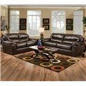 Jackson Furniture Brantley  Casual and Comfortable Family Room Sofa - Shown with Coordinating Collection Loveseat. Sofa Shown May Not Represent Exact Features Indicated.