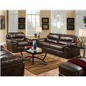 Jackson Furniture Brantley  Casual and Comfortable Family Room Sofa - Shown with Coordinating Collection Chair. Loveseat and Ottoman Shown Left and Right Corners. Sofa Shown May Not Represent Exact Features Indicated.
