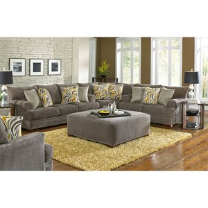 Sectional Sofa with Casual Style