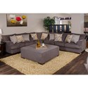 Jackson Furniture Crompton Loveseat with Casual Style - Shown as a Modular Component in a Sectional Sofa Configuration