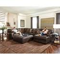 Jackson Furniture Denali 3 Piece Sectional - Item Number: 4378-62-1283-09-3083-09+30+76