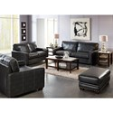 Jackson Furniture Elmsford Contemporary Sofa with Nailhead Trimming
