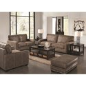 Jackson Furniture Elmsford Contemporary Ottoman with Nailhead Trimming