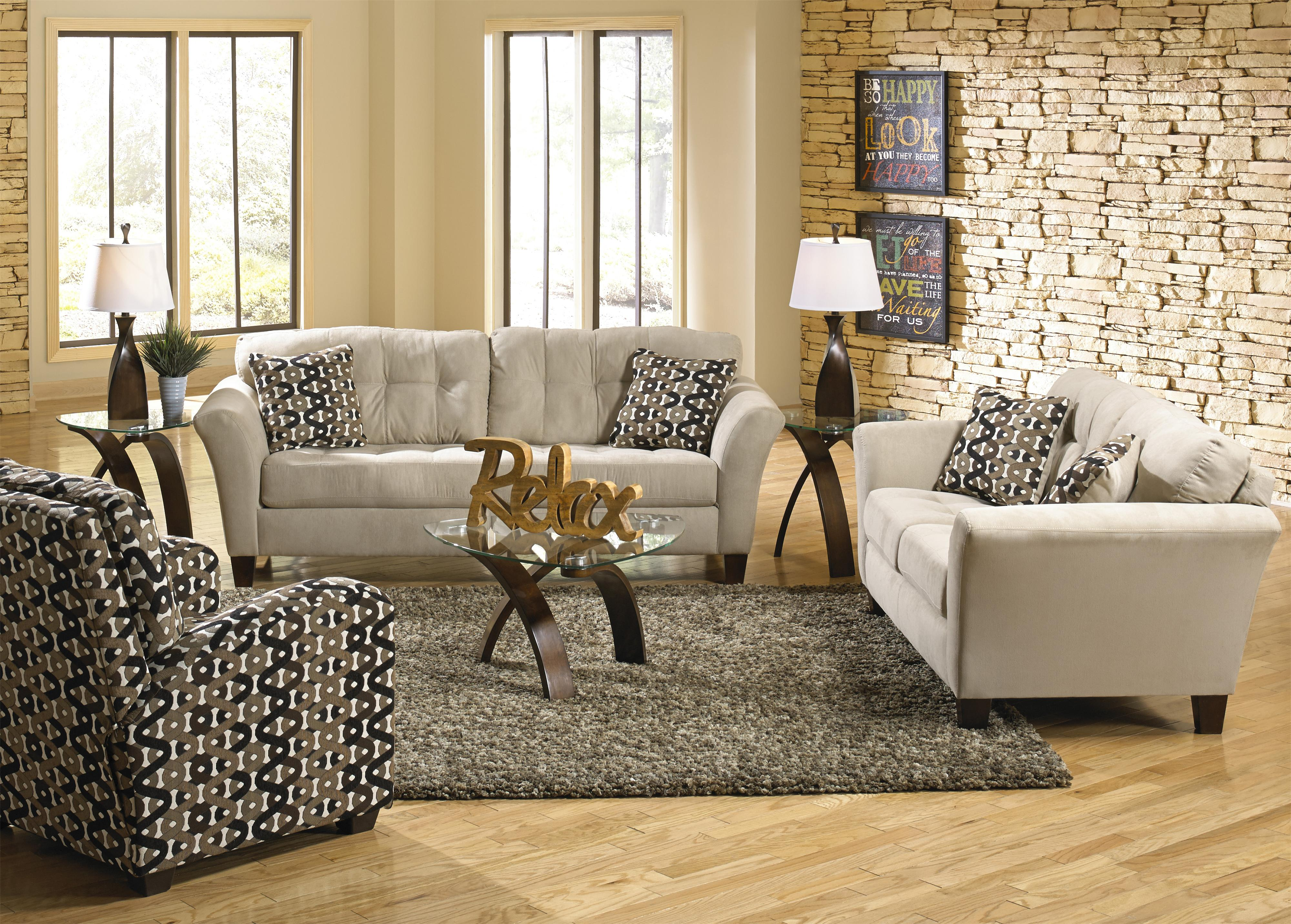 Jackson Furniture Halle Stationary Living Room Group - Item Number: 4381 Living Room Group 3