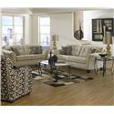 Jackson Furniture Halle Loveseat with 2 Seats and Tufted Back Cushions - 4381-02-Doe