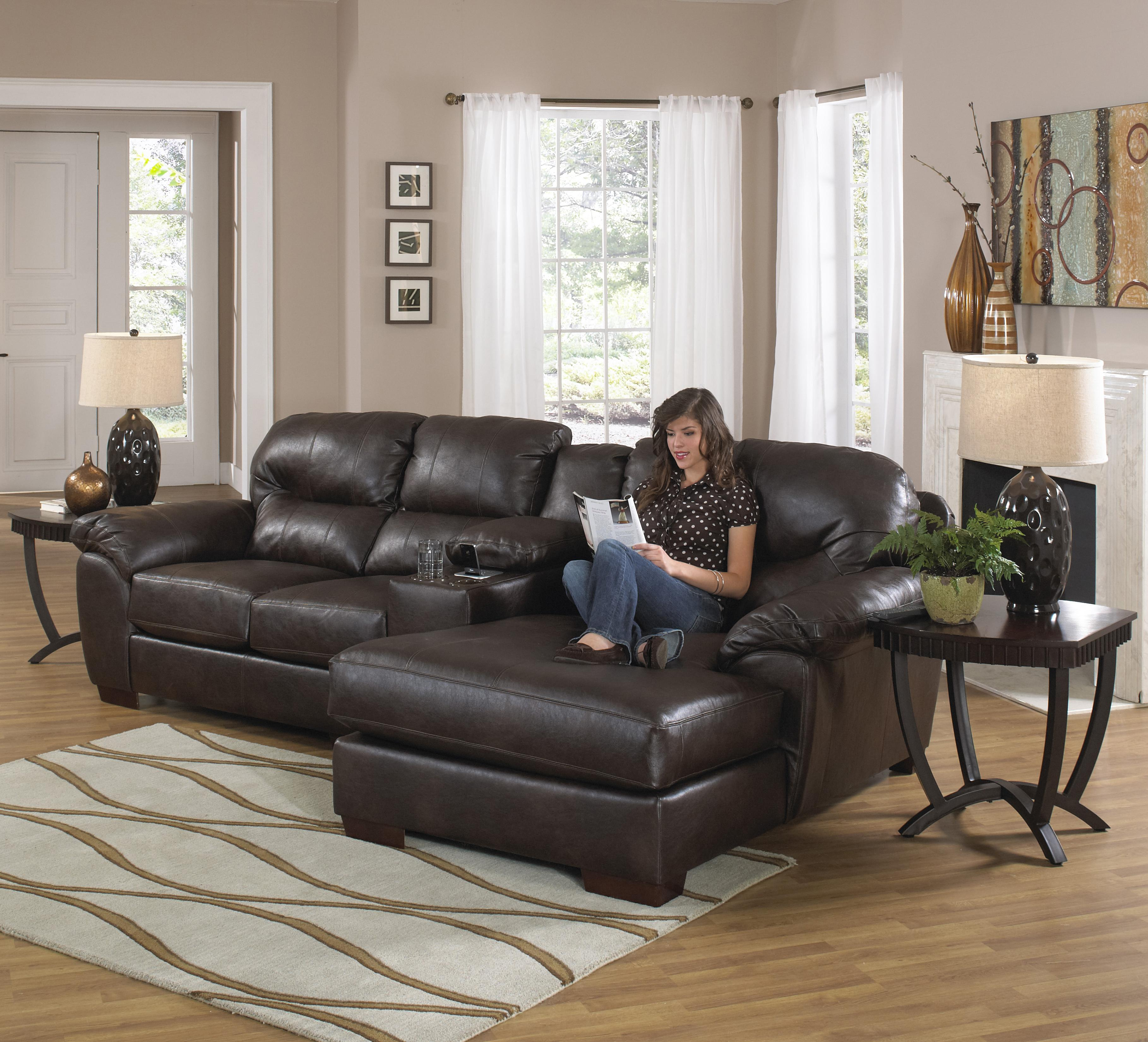 Jackson Furniture MARCO Three Seat Sectional Sofa with Console and