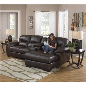 Jackson Furniture Lawson  Sectional Sofa with Console and Chaise