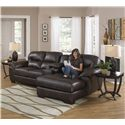 Jackson Furniture Lawson  Sectional Sofa with Console and Chaise - Item Number: 4243-46+88+76 1223-29 3023-29