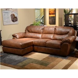 Jackson Furniture Lawson  Three Seat Sectional Sofa with Chaise