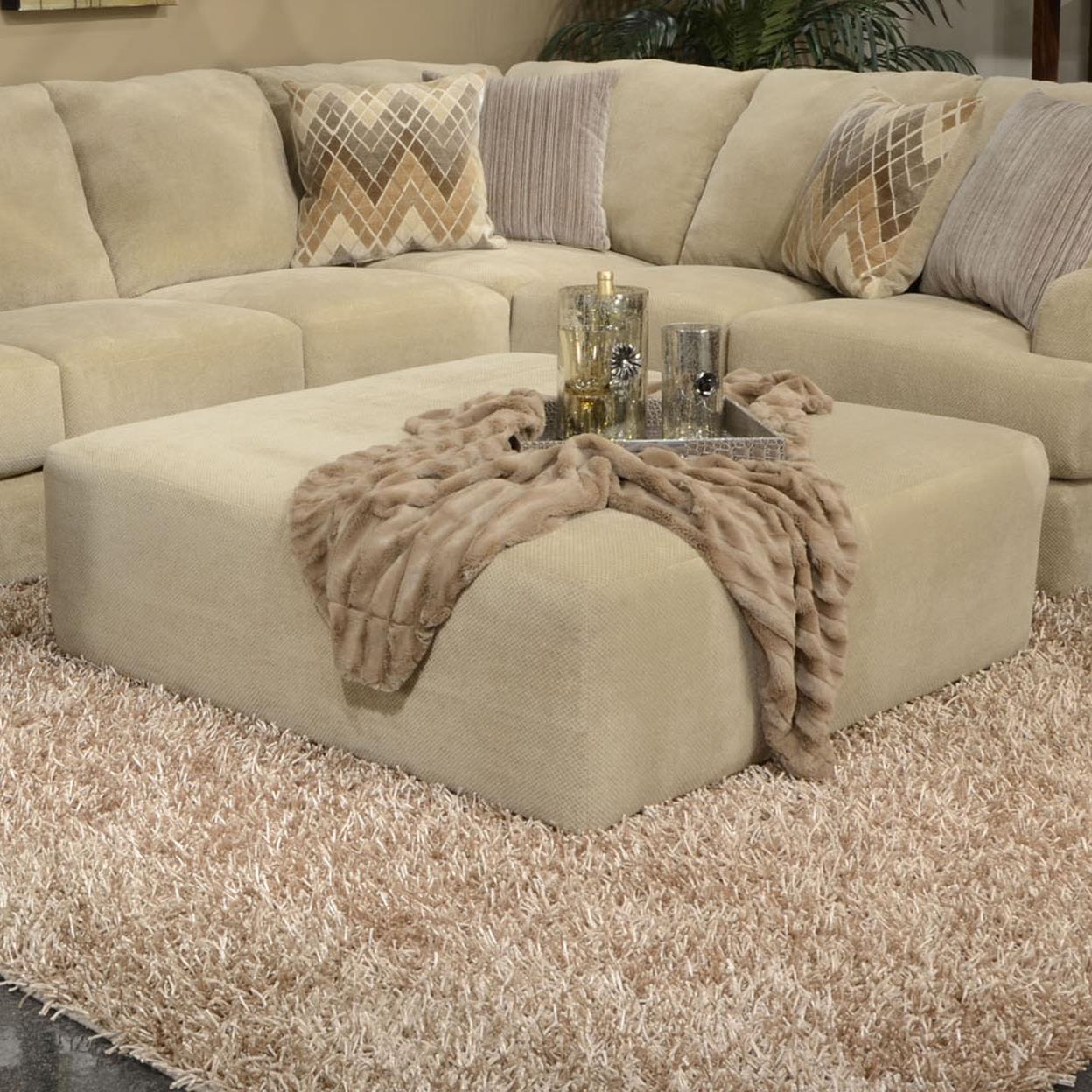 Jackson Furniture Malibu Cocktail Ottoman - Item Number: 3239-28-Sand