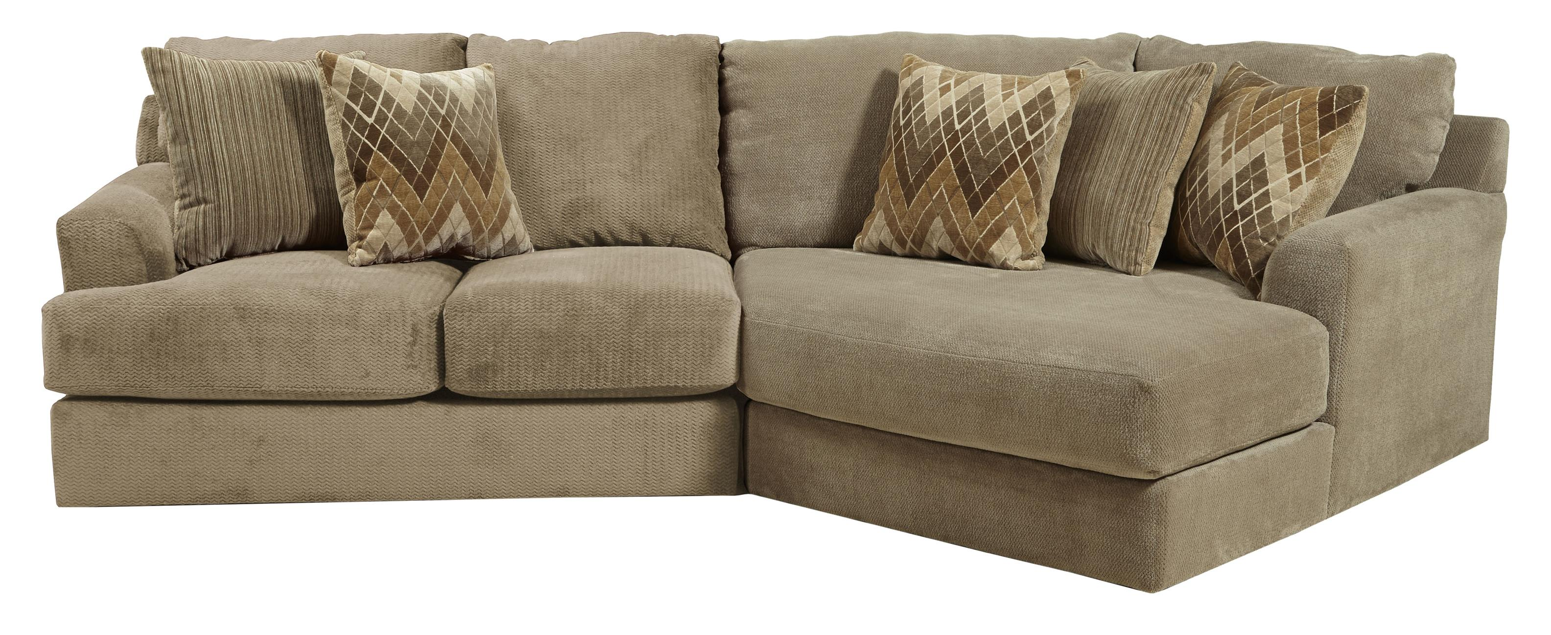 Jackson Furniture Malibu Three Seat Sectional  - Item Number: 3239-46+96--Sand