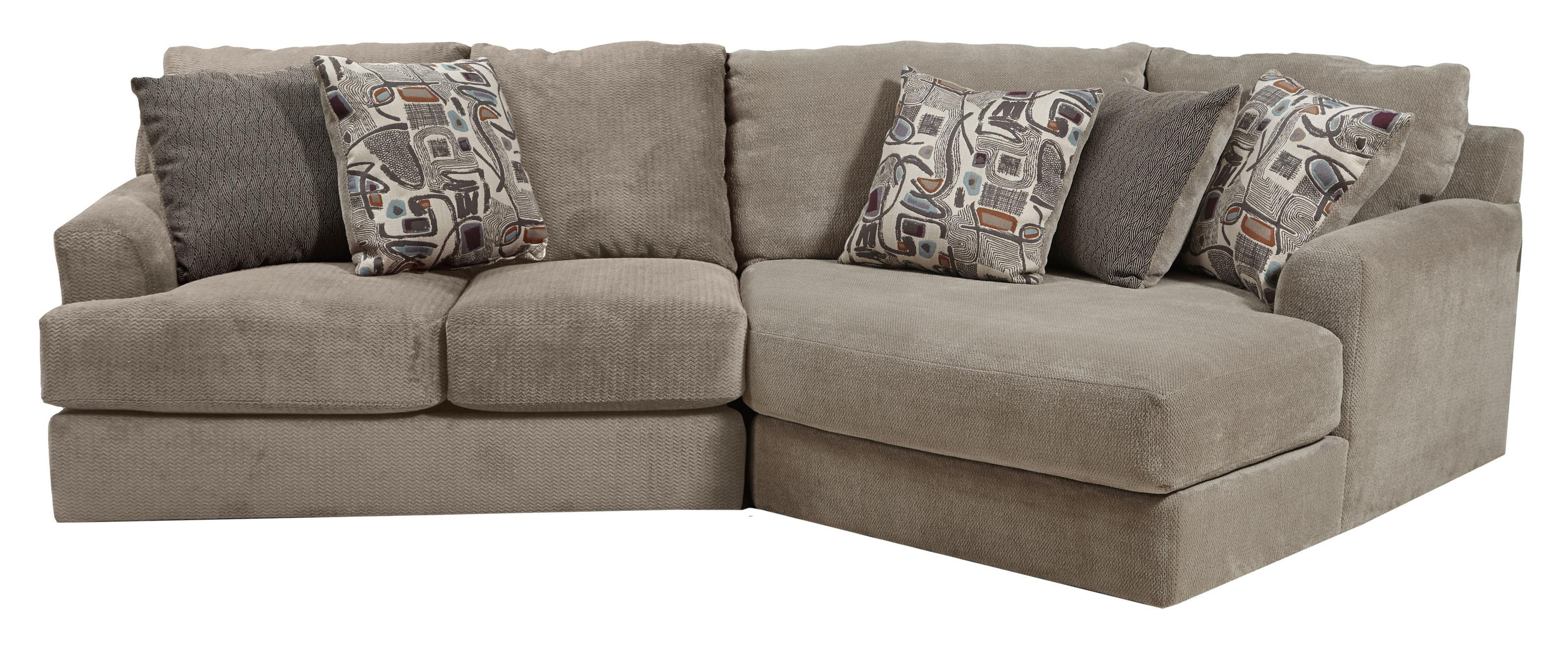 Jackson Furniture Malibu Three Seat Sectional  - Item Number: 3239-46+96-1983-36