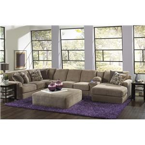 Jackson Furniture Malibu Six Seat Sectional Sofa with Console