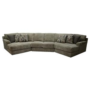 Jackson Furniture Malibu Four Seat Sectional Sofa