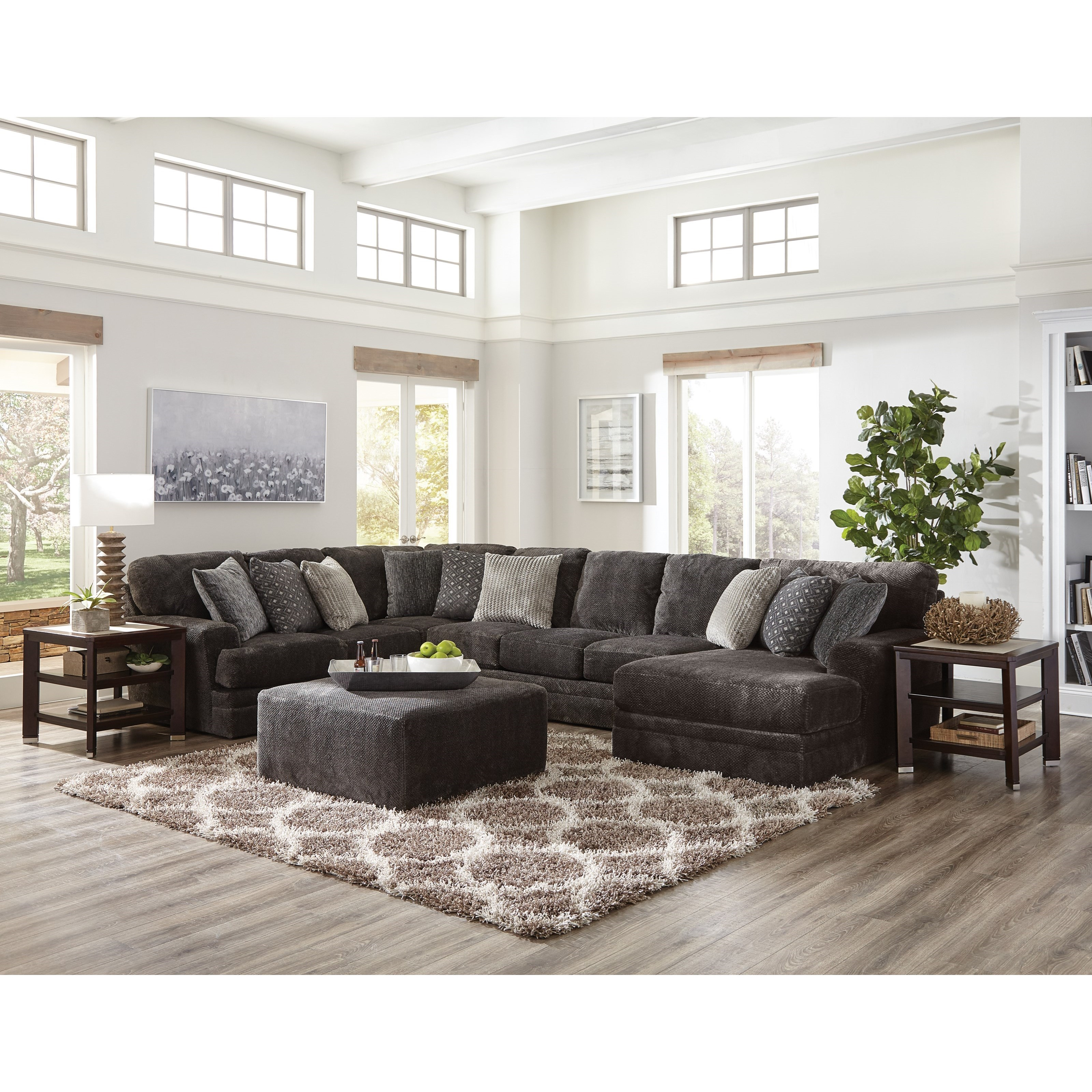 Mammoth Four Piece Sectional With Chaise And Track Arms By Jackson Furniture At Lindy S Furniture Company