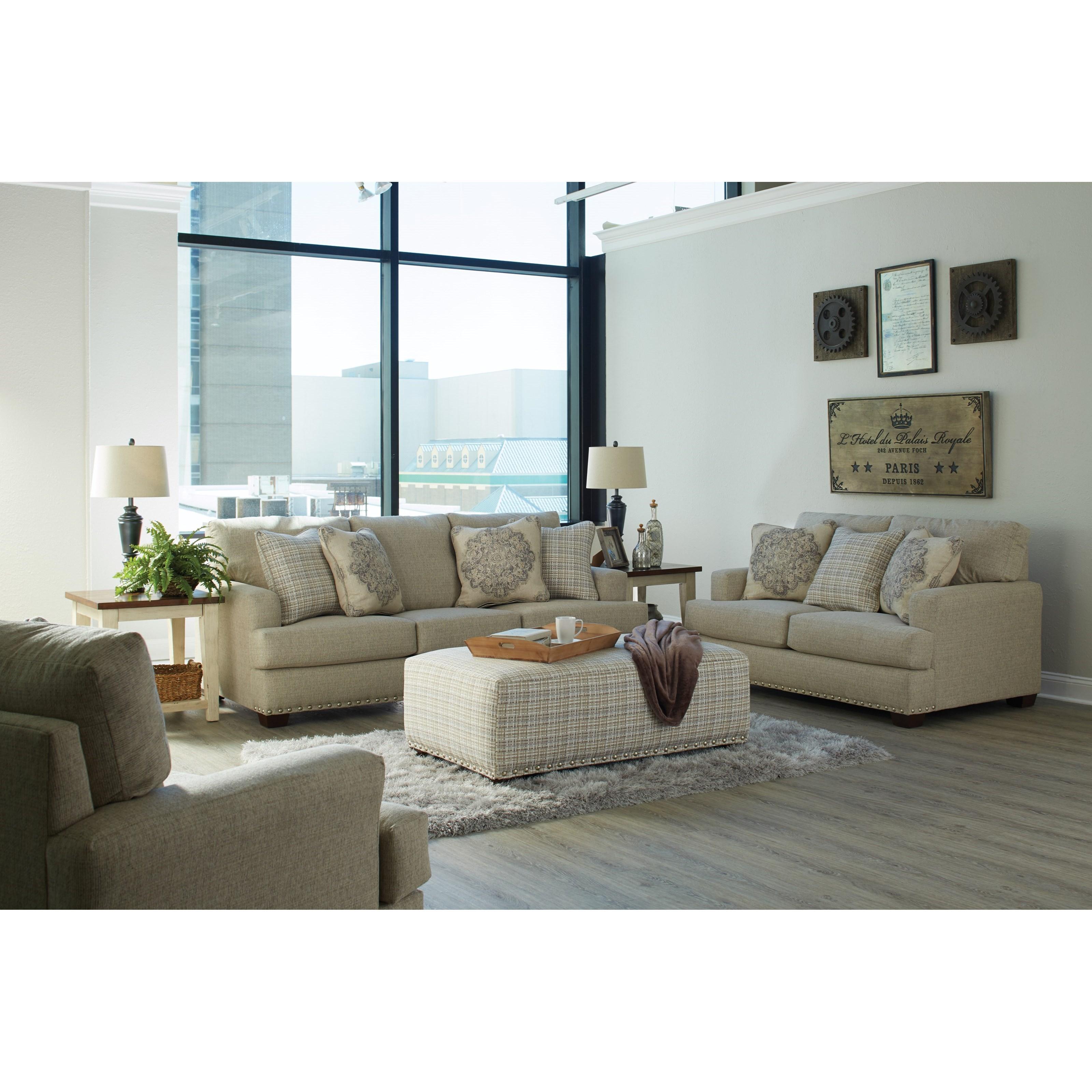 Jackson Furniture Newberg 4421-03 Upholstered Sofa With