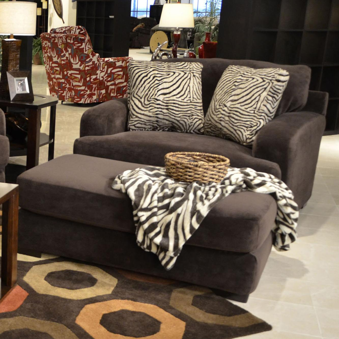 Jackson Furniture Palisades Chair and Ottoman - Item Number: 4186-01+10 Chocolate