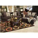 Jackson Furniture Palisades Large Casual Modern Ottoman - 4186-10 Chocolate