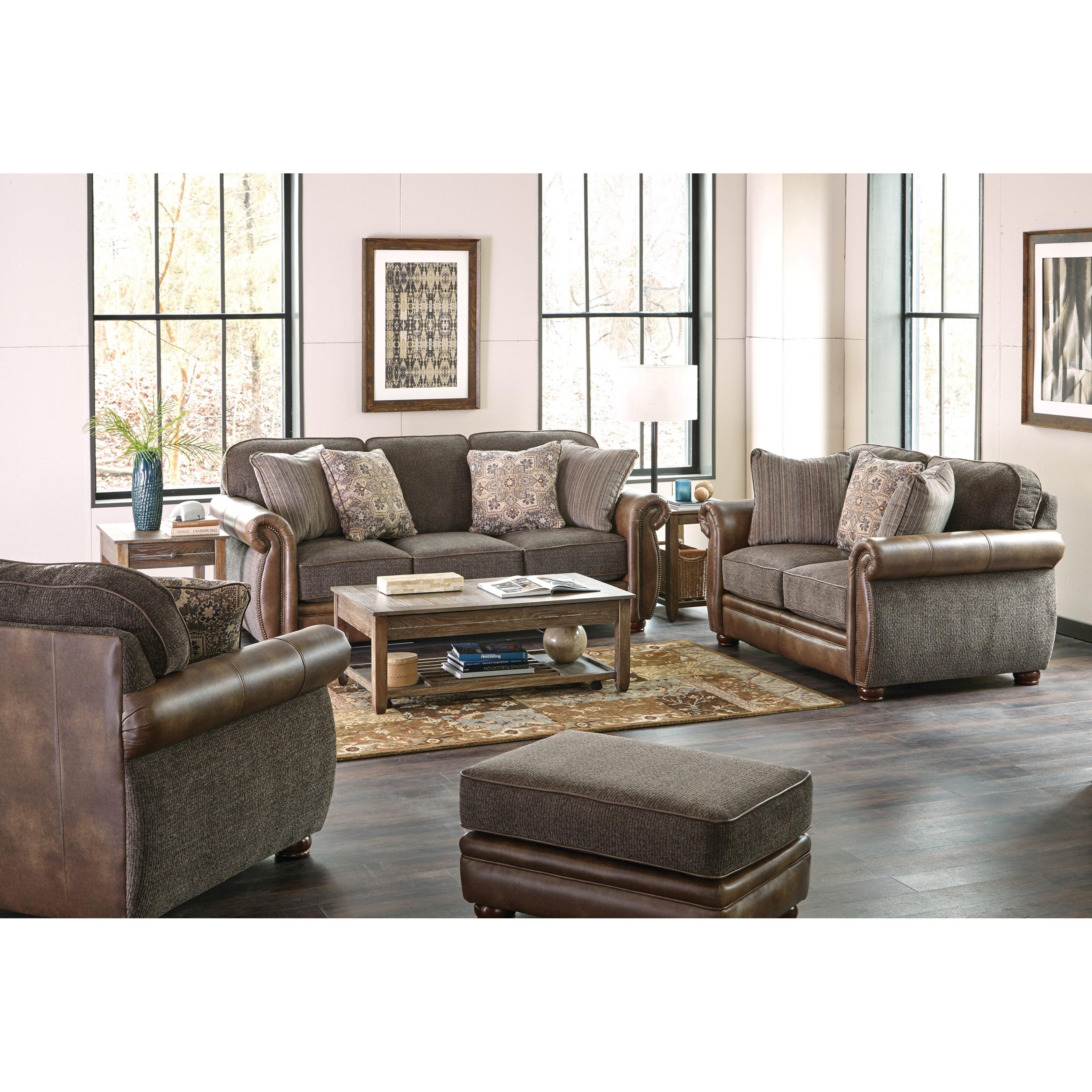 Jackson Furniture Pennington Traditional Styled Sofa