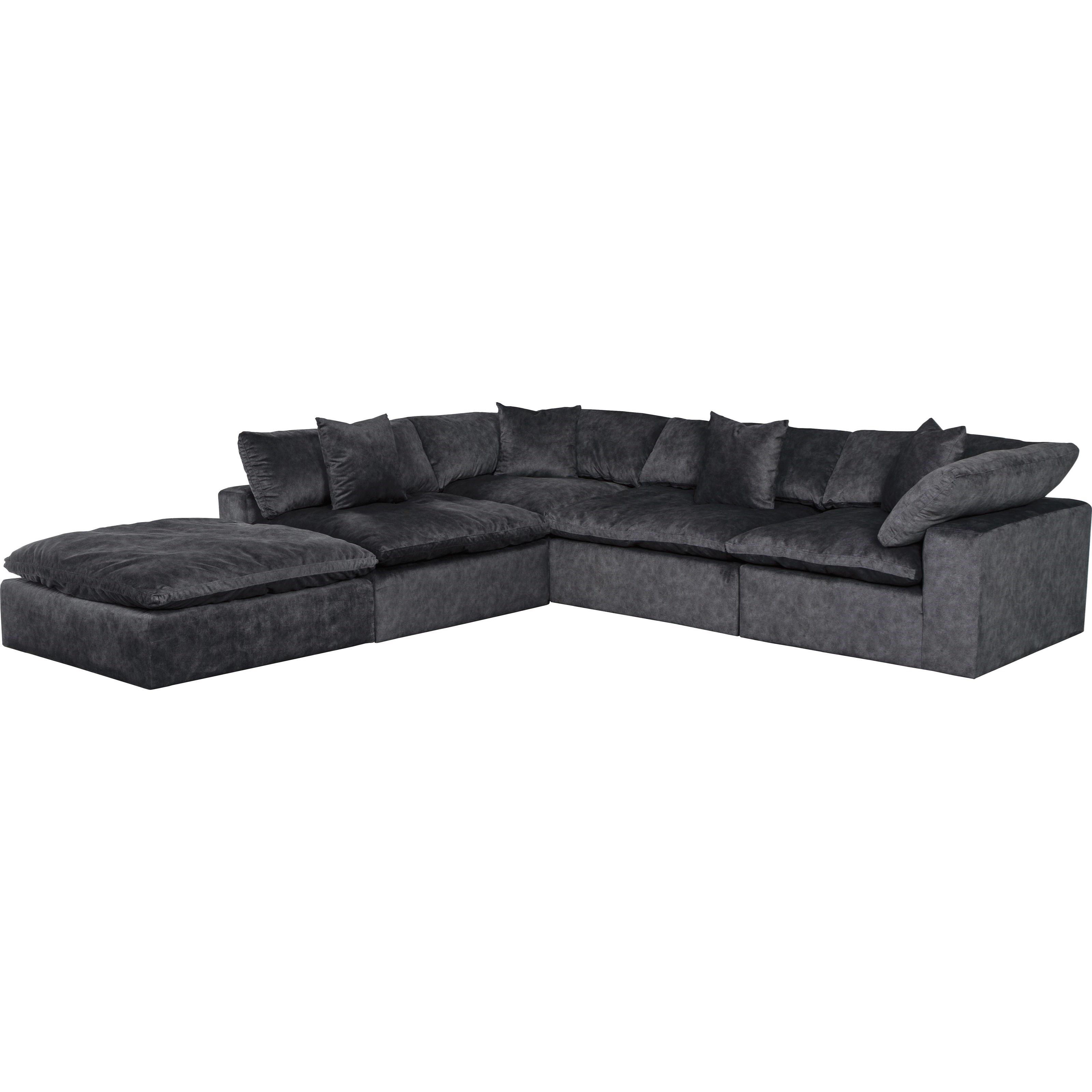 Plush L Shaped Sectional Sofa