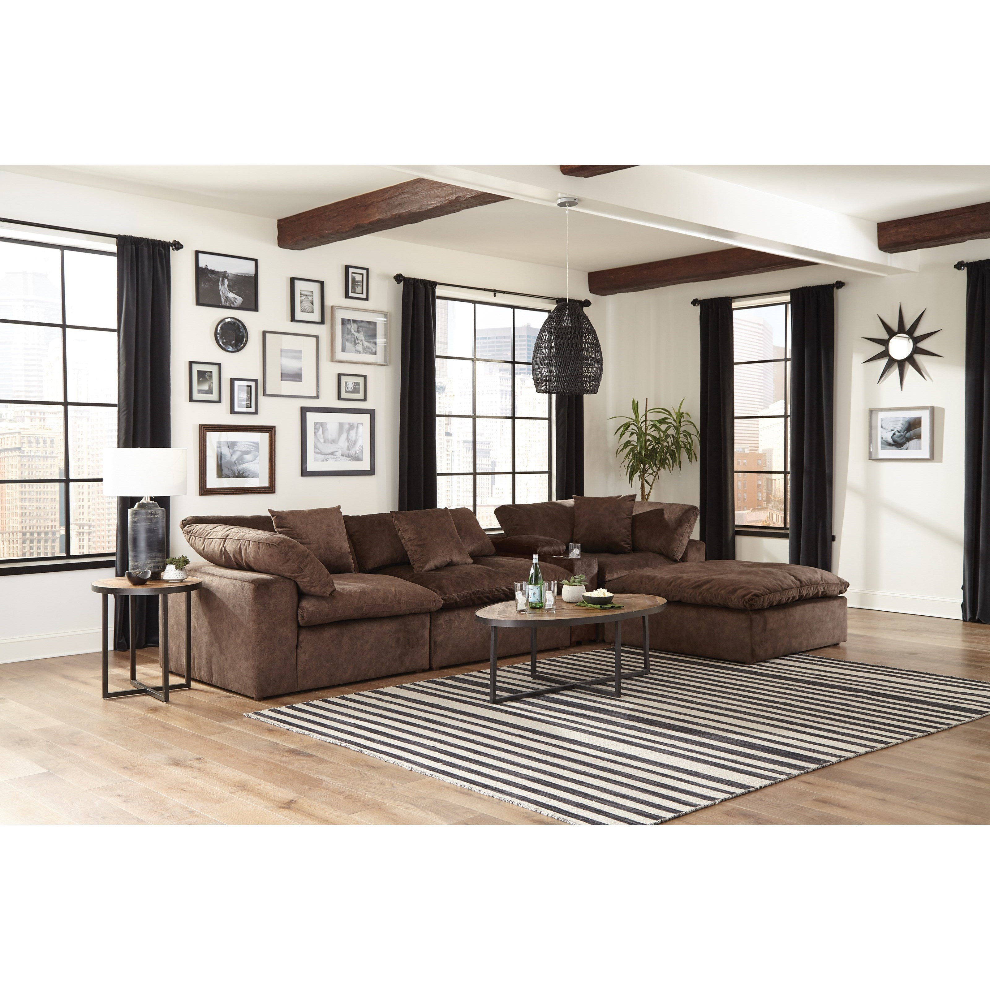Jackson Furniture Plush Chaise Sectional with Storage ...