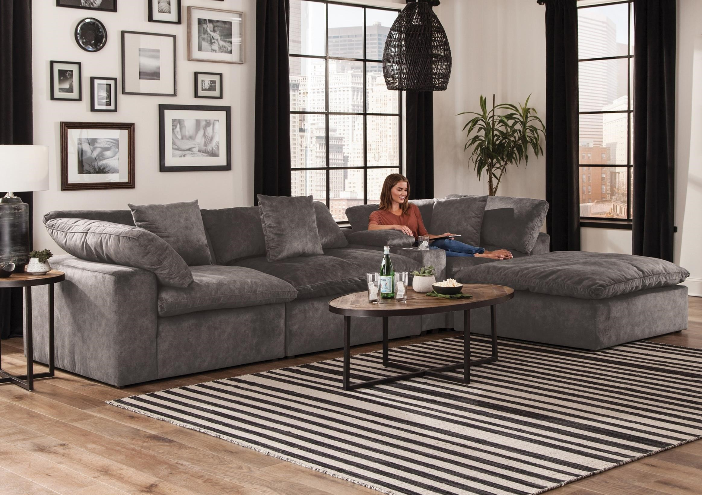 Jackson Furniture Plush Chaise Sectional With Storage