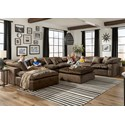 Jackson Furniture Plush Chaise Sectional - Item Number: 4446-28+3x59+3x31-2069-29