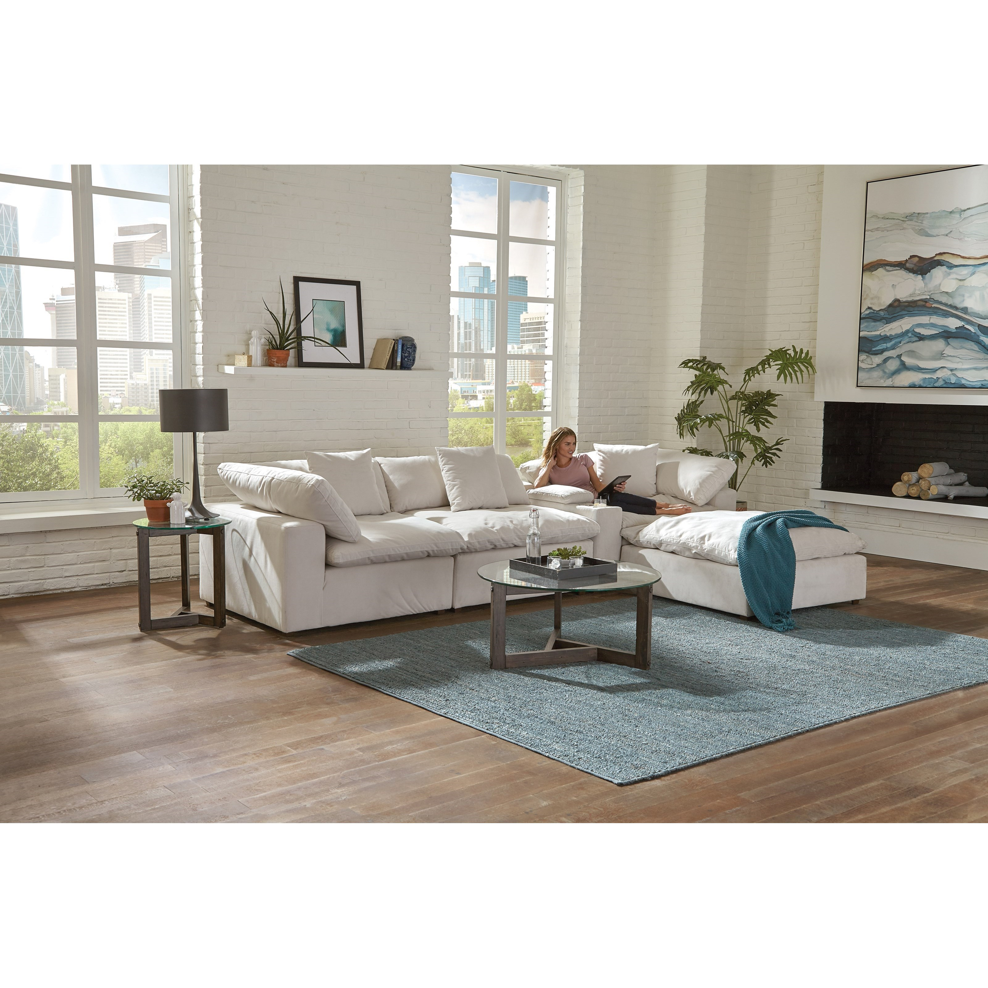 Living Room Ideas To Steal For Comforting Vibe Found In: Jackson Furniture Posh Contemporary Chaise Sofa With