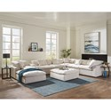 Jackson Furniture Posh Chaise Sectional - Item Number: 4445-28+3x59+3x31+88-1729-11