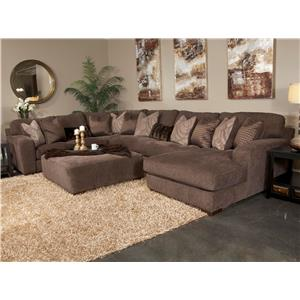 Jackson Furniture Serena Five Seat Sectional Sofa