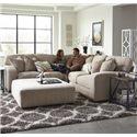 Jackson Furniture Serena Corner Sectional Sofa - Item Number: 3276-46+59+42-Oyster